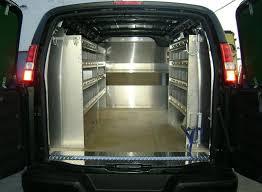 Cargo Van Shelves by Gmc Savanna Chevy Express Van Shelving And Equipment