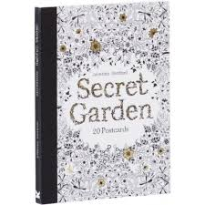 secret garden colouring book postcards colouring books by laurence king