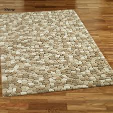 Contemporary Bathroom Rugs Contemporary Bathroom With Pebble Rectangle Rug And Rectangular