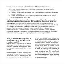 pasture lease agreement template land lease agreement download