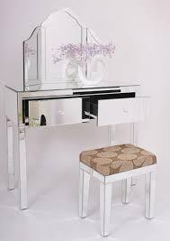 Mirrored Glass Bedroom Furniture Glass Vanity Table Decofurnish