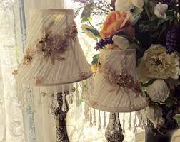 shabby chic lamp shades etsy