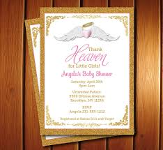 happy thanksgiving in heaven thank heaven for little girls baby shower invitations unique