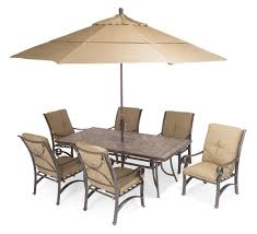 Patio Set With Umbrella by Furniture Carlsbad Cushion Aluminum Patio Furniture With Brown