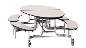 cafeteria benches national public seating mtfb12 12 foot mobile cafeteria table with