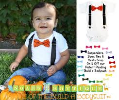 Boys Pumpkin Halloween Costume Halloween Baby Boys Pumpkin Bow Tie Suspenders