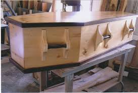 burial caskets crafted wood casket for or green burial light tone