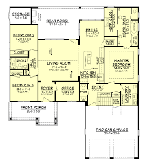 craftsman open floor plans 3 bedrm 2004 sq ft country house plan 142 1158 open floor