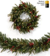 10 ft to 18 ft artificial garlands prelit