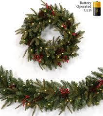 led prelit artificial wreaths garlands treetime