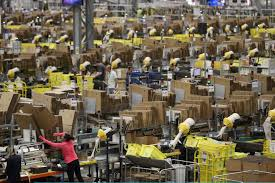 where are the best deals for black friday inside the amazon warehouse where staff rush to fulfil black