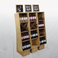 wood commercial wine racks liquor store display ideas wine