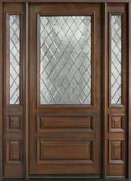 wood and glass exterior doors entry door in stock single with 2 sidelites solid wood with