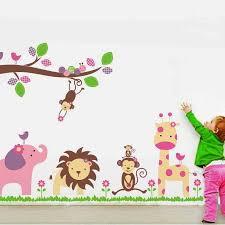 Jungle Wall Decal For Nursery Nursery Jungle Wall Decal Nursery Animals Wall Stickers