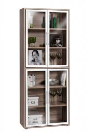 steel frame glass doors furniture black polished metal movable pantry cabinet with gray