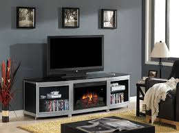 furniture wall mount tv stand with 3 shelves black for tvs up to