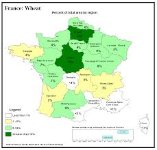 France Map Regions by Major World Crop Areas