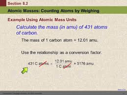 Meters To Feet by 10 8 2 Atomic Masses Counting Atoms By Weighing Youtube