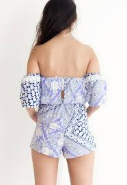 Shoulder Design - freya the shoulder romper navy thewyldshop