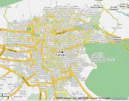 tehran satellite map tehran map and tehran satellite image travelquaz