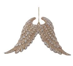 kurt adler plastic glitter wings ornament reviews wayfair