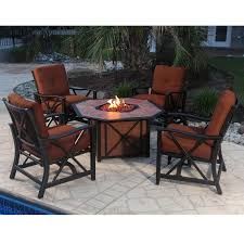 Aluminum Patio Furniture Set - belham living san miguel cast aluminum fire pit chat set hayneedle