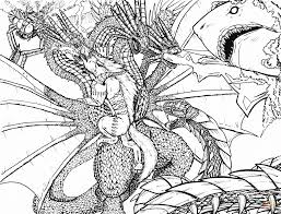 kaiju apocalypse coloring page free printable coloring pages