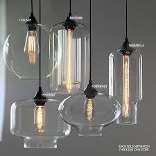 Pottery Barn Lighting Pendant Incredible Glass Light Pendants Paxton Glass 3 Light Pendant