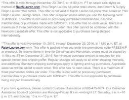 ralph black friday 2017 sale outlet deals cyber week 2017
