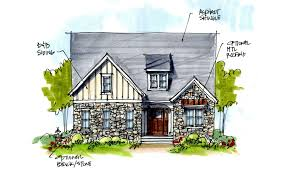 French Cottage House Plans by Villetta Bel Arbor Builders