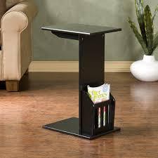 amazon com magazine snack table for sofa side black kitchen