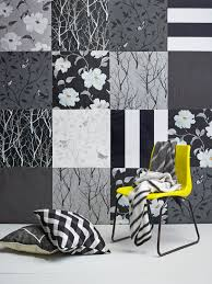 a patchwork of wallpaper in monochromatic colours of black white