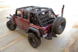 Jeep Wrangler Waterproof Interior Cargo Net System By Rugged Ridge