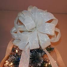 White Bows For Tree Shop White Tree Bows On Wanelo