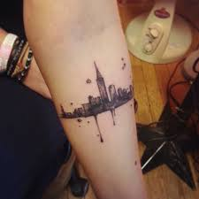 little forearm tattoo of new york jonneamonic rat a tat