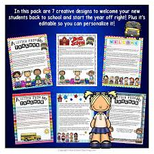 to welcome letter to students and parents editable