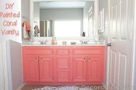 Diy Bathroom Vanity Makeover by Diy Painted Coral Vanity Decorchick Diy Painting Bathroom Vanity