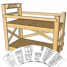 Twin Extra Long Size Bunk Bed Plans Tall Height OP Loftbed - Extra long bunk bed