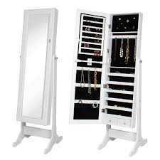 Jewelry Chest Armoire White Mirrored Jewelry Armoire Jet Com