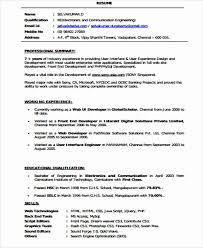 front end developer resume developer resume exles best of sle front end developer