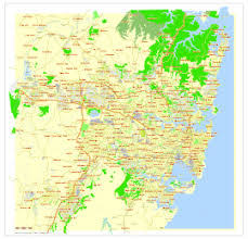 australia map of cities sydney