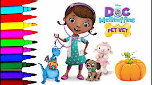 disney junior doc mcstuffins pet vet halloween coloring book pages