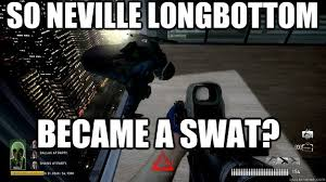 Neville Longbottom Meme - so neville longbottom became a swat payday the heist quickmeme