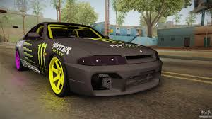 nissan skyline 2017 nissan skyline r33 drift monster energy falken for gta san andreas