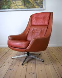 Swivel Chair Ireland Danish Leather Swivel Chair By H W Klein For Bramin Møbler 1960s