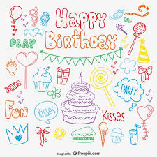 Birthday Card Ai Doodle Birthday Card Vector Free Vector Download In Ai Eps