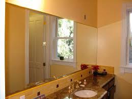 How To Hang Bathroom Mirror Installing Bathroom Mirrors Diy Real