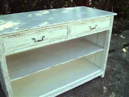 Antique Painted Sideboard Large Vintage Painted Shabby Chic Cupboard Shelf Unit Sideboard