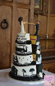 half and half wedding cake wedding ideas