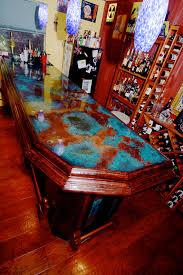 Epoxy Table Top Ideas by Azul Copper Bar Top And Epoxy Coating Colorcopper Copper Bartop